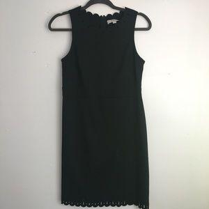 Ann Taylor LOFT Petite Black Scallop Dress
